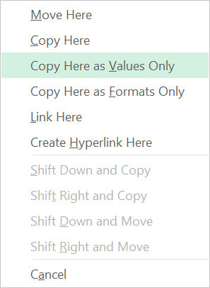 Excel-convert-answers-to-values