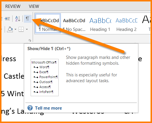 Microsoft Word - Replace Multiple Spaces with a Tab Character