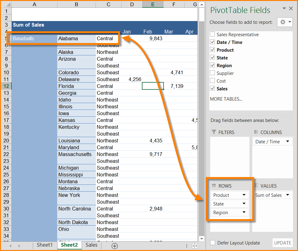 Excel - Mixed Pivot Table Layout | SkillForge