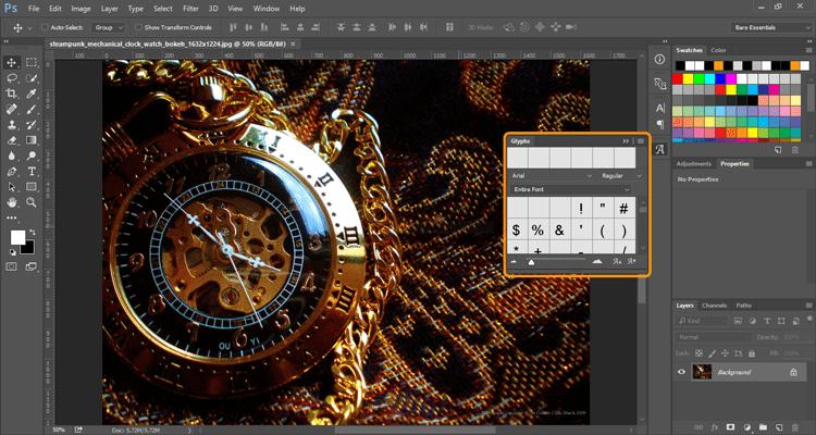 photoshop-glyphs-panel