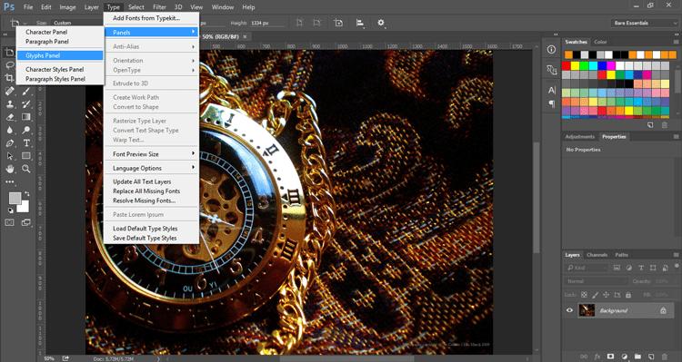 Glyphs Panel, Adobe Photoshop CC 2015 | SkillForge