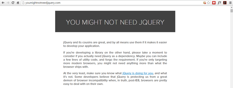 might-not-need-jquery