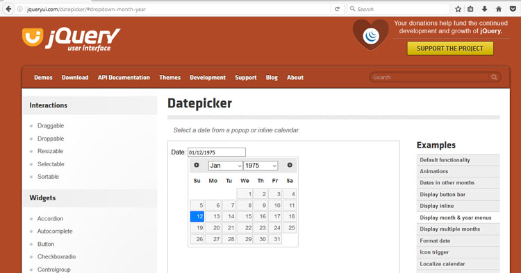 dob-jquery-datepicker
