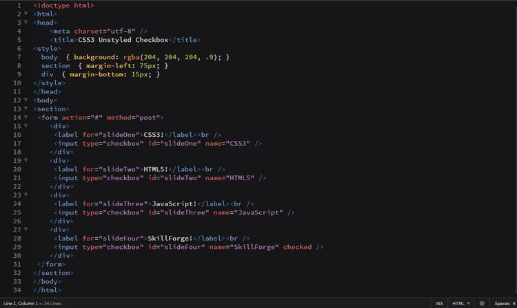 plain-checkbox-code