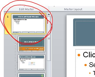 how to change the slide master in powerpoint