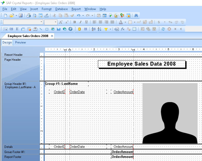 Using Multiple Sections in Crystal Reports | SkillForge
