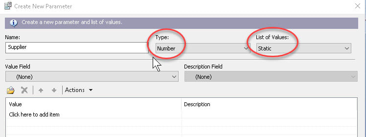 Creating and Using Parameter Fields in Crystal Reports | SkillForge