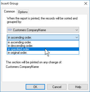 Insert Grouping