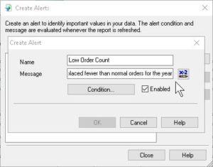 Create Report Alerts
