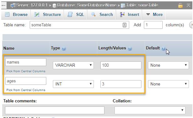 create database phpmyadmin xampp