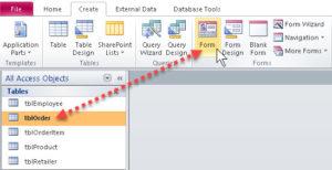 Create datasheet form