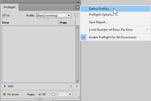 Preflight define profile