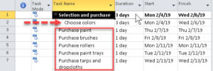 Summary tasks organized