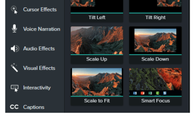 smart focus camtasia