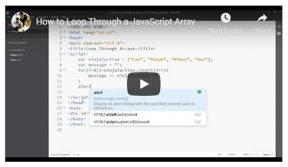 loop through array javascript