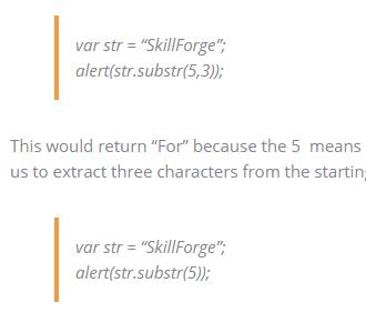 substring vs substr javascript training