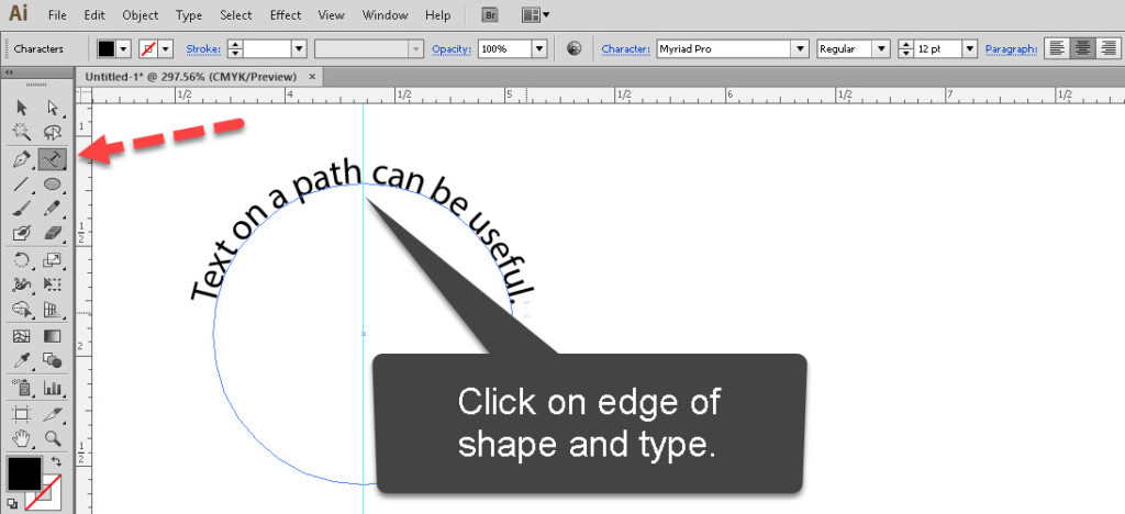 Use Type on a Path in Adobe Illustrator | SkillForge