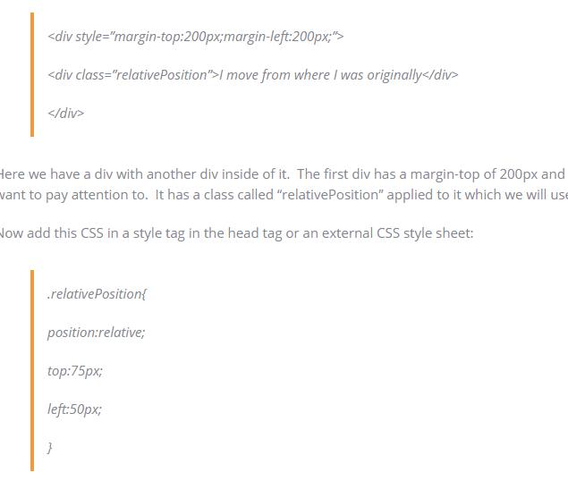 CSS Relative Position