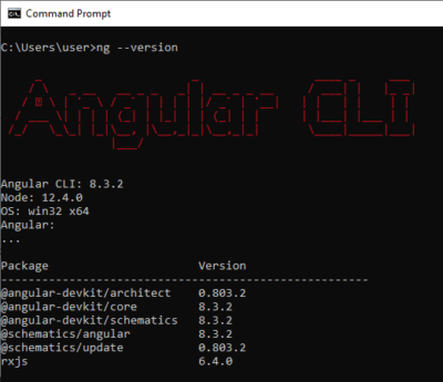 Angular CLI Version