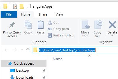 Angular Apps Folder Path
