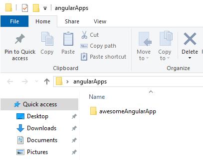 Angular App In Folder